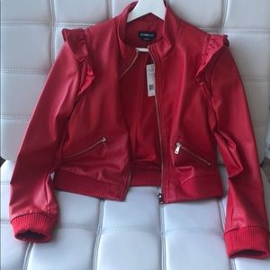BEBE red leather jacket